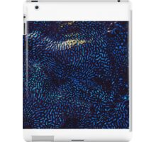 Psychedelic blue brain coral pattern iPad Case/Skin