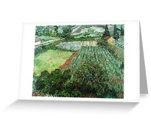 Vincent Van Gogh - Field With Poppies Greeting Card