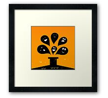 Collection of vector stylized Ghost creatures Framed Print
