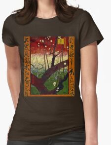 Vincent Van Gogh - Flowering Plum Orchard After Hiroshige, October 1887 - November 1887  Womens Fitted T-Shirt