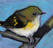 Fluffy Little Bird, Pastel Art, Wildlife Art by Joyce Geleynse