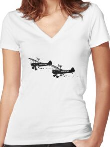 Wing Walkers Women's Fitted V-Neck T-Shirt