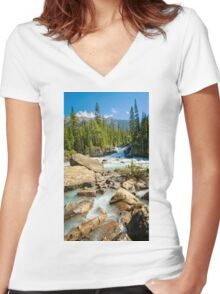 Meeting of the Waters Women's Fitted V-Neck T-Shirt