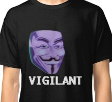 """Vigilant"" Anonymous Mask  Classic T-Shirt"