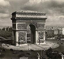 Paris vintage Arc de Triomphe 1943 by stine1