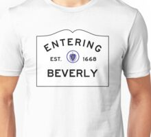 Entering Beverly- Commonwealth of Massachusetts Road Sign Unisex T-Shirt