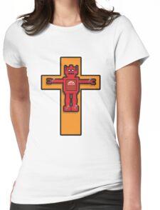Robot Cruxifiction Womens Fitted T-Shirt