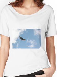 Buzzard in blue sky Women's Relaxed Fit T-Shirt