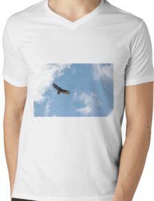 Buzzard in blue sky Mens V-Neck T-Shirt