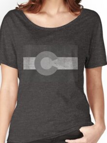 Retro Black and White Flag of Colorado Women's Relaxed Fit T-Shirt