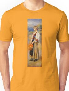 Renoir Auguste - Girl With A Basket Of Oranges Unisex T-Shirt