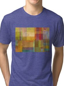 Color Collage with Green and Red Tri-blend T-Shirt