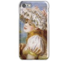 Renoir Auguste - Girl In A Lace Hat 1891 iPhone Case/Skin