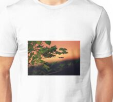 Sunset through the leaves Unisex T-Shirt