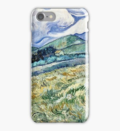 Vincent Van Gogh - Landscape From Saint Remy, 1889  iPhone Case/Skin