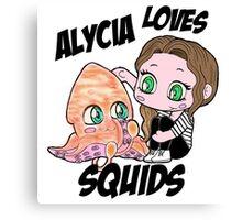 Alycia ♥ Squids Canvas Print