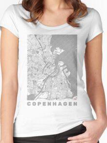 Copenhagen Map Line Women's Fitted Scoop T-Shirt
