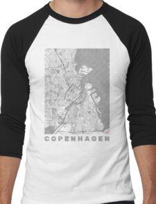 Copenhagen Map Line Men's Baseball ¾ T-Shirt