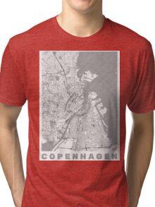 Copenhagen Map Line Tri-blend T-Shirt