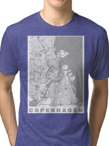 Copenhagen Map Line Tri-blend T-Shirt
