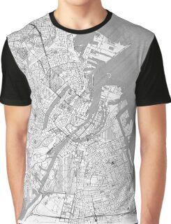 Copenhagen Map Line Graphic T-Shirt