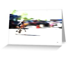 Motional Colors Greeting Card