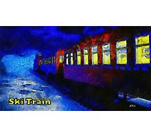 Ski train Photographic Print