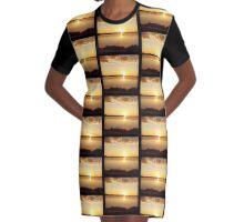 Salt lake sunset Graphic T-Shirt Dress