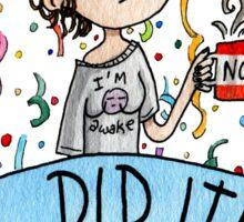 I did it! Watercolor Sticker Sticker