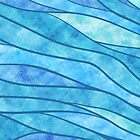 Blue Waves Ocean Abstract by SpiceTree
