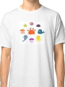 Underwater creatures and animals set Classic T-Shirt