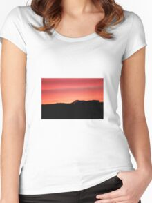 Sunset over the hills Women's Fitted Scoop T-Shirt