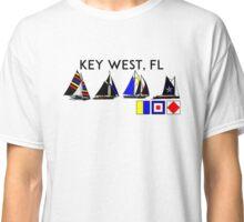 KEY WEST FLORIDA SAILING YACHTING YACHT SAIL BOAT  Classic T-Shirt