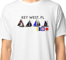 KEY WEST FLORIDA SAILING YACHTING YACHT SAIL BOAT  Classic T-Shirt
