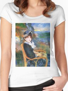 Renoir Auguste - By The Seashore 1883 Women's Fitted Scoop T-Shirt