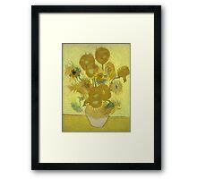 Vincent Van Gogh - Sunflowers 1989 Framed Print