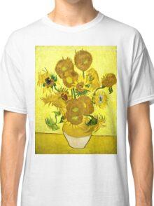 Vincent Van Gogh - Sunflowers, January 1889 - 1889  Classic T-Shirt