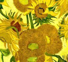 Vincent Van Gogh - Sunflowers, January 1889 - 1889  Sticker