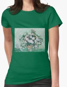 Vincent Van Gogh - Vase With Roses, 1890 02 Womens Fitted T-Shirt