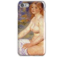 Renoir Auguste - Blonde Bather 1881 iPhone Case/Skin