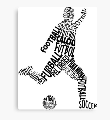 Soccer Football Languages Typography Canvas Print