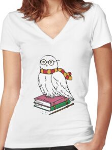 Hedwig Women's Fitted V-Neck T-Shirt