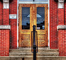 City Hall Entrance West Dundee Illinois by Roger Passman
