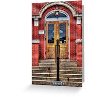 City Hall Entrance West Dundee Illinois Greeting Card
