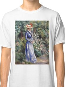 Pierre-Auguste Renoir - Woman In A Blue Dress  Classic T-Shirt