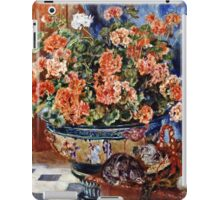 Pierre-Auguste Renoir - Geraniums And Cats  iPad Case/Skin