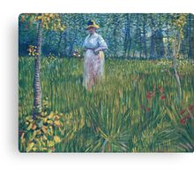 Vincent Van Gogh - Woman In  Garden, 1887 Canvas Print