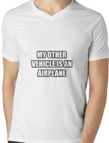 My Other Vehicle Is An Airplane Mens V-Neck T-Shirt