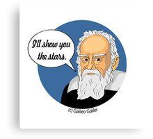 Funny science Galileo Galilei Canvas Print