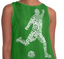 Soccer Football Languages Typography Contrast Tank